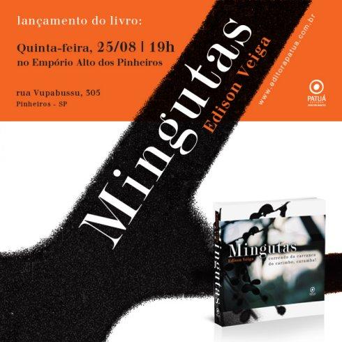 """Convite - Lançamento do livro """"Mingutas"""""""