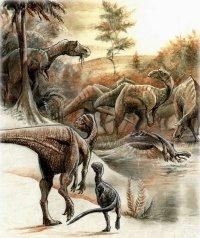 Dinossauros, ilustração de Pavel Riha