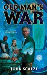 Capa da primeira edição de Old man's war, de John Scalzi