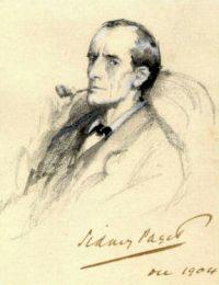 Ilustração de Sherlock Holmes feita por Sidney Paget